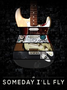 John Mayer Strat Guitar Montage Poster Complete