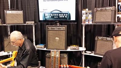 Quilter Amps are probably the best sounding, most portable solid state amps I've heard... ever. They have one that will fit ON your pedalboard!!
