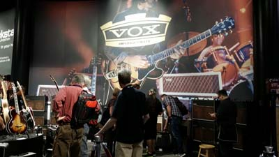 One of the sweetest sounding amps I ever played was an old Vox AC-30. Nothing special from them this year, but the booth sure looked nice..