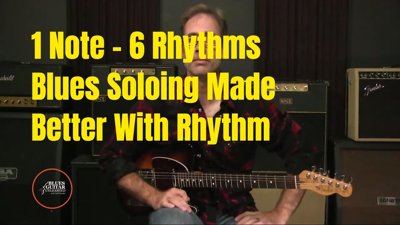 1 Note – 6 Rhythms