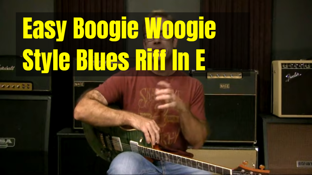 Easy Boogie Woogie Blues Riff