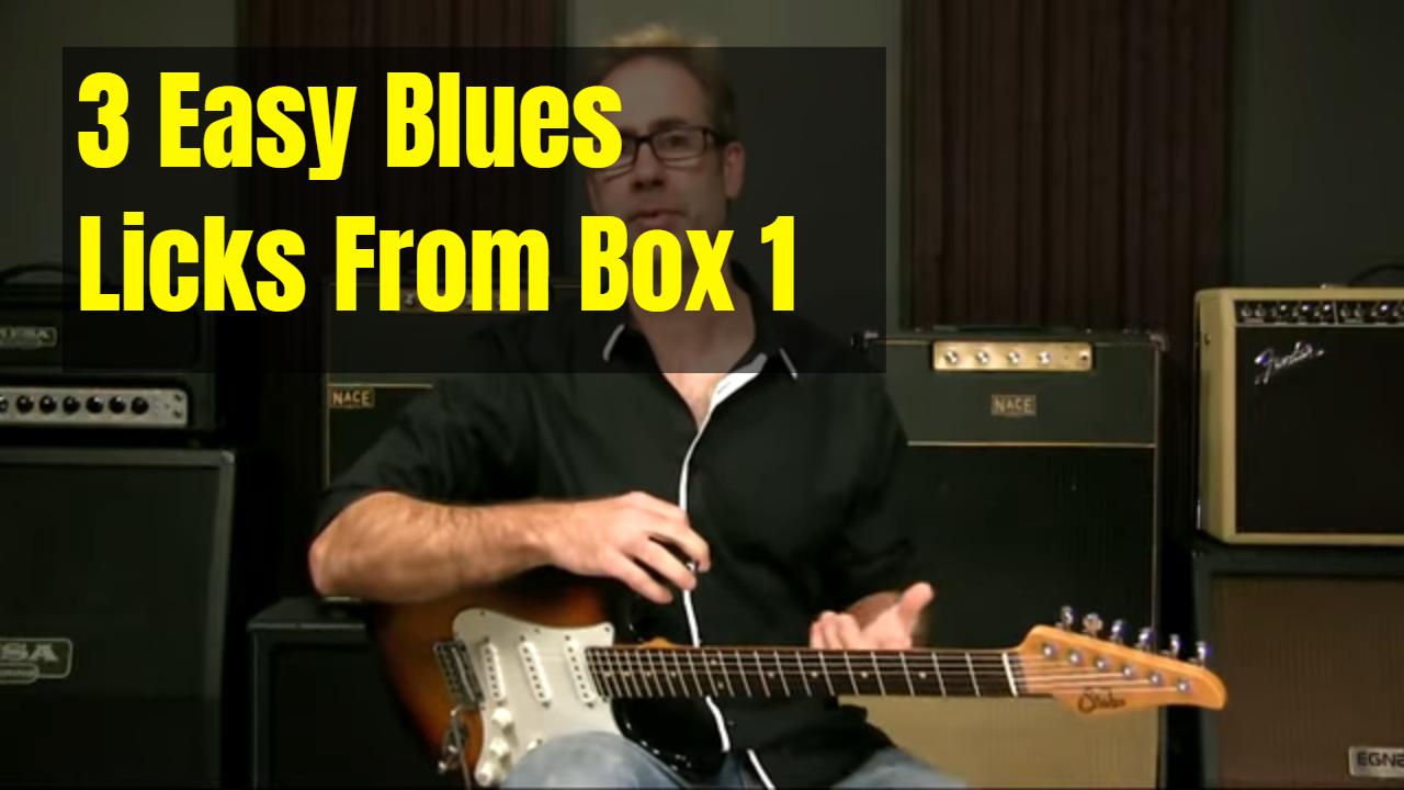 3 Easy Box 1 Blues Licks
