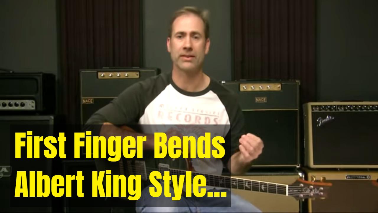 First Finger Bends!